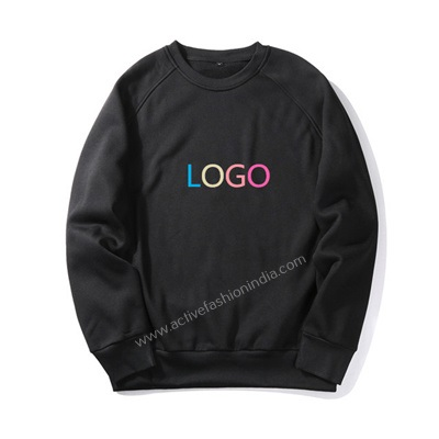 sweatshirt-Custom-Logo-Plain-Black-New